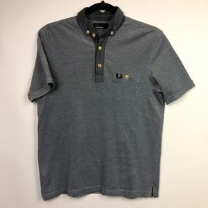 Fred Perry Polo Sz S Blue Pocket Stitched Logo EUC